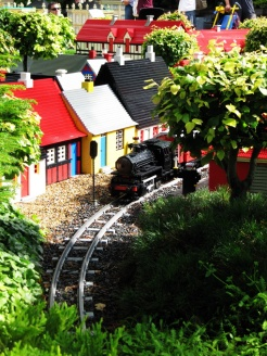I could follow the trains going along all the Legoland cities for hours if I were allowed to.