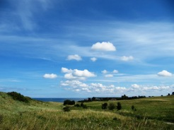 Danish countryside, is mostly flat, with very gentle undulation in landscape.