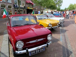Old Timer Festival on the main street of Medemblik