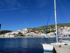 The sleepy port town of Batsi