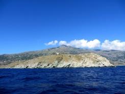 Sailing along the coast of Tinos and Andros