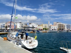 Town port of Tinos Chora