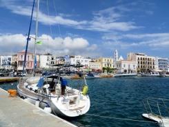 Town port of Tinos Chora
