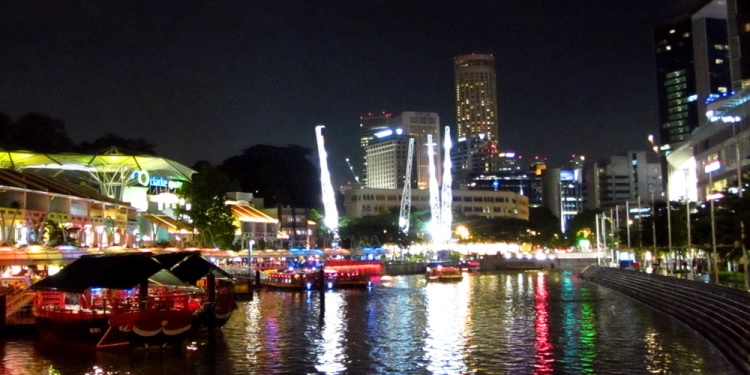 Singapore - Clarke Quay at night