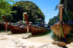 Koh Lao Lading and its flottila of long-tailed boats