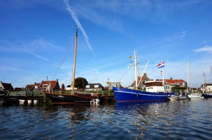 Makkum town harbour